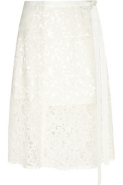 Sacai Luck lace wrap skirt