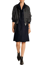 Sacai Luck shell and wool-blend coat