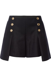 Sacai Luck wool-felt shorts