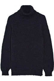 Alpaca-blend turtleneck sweater