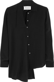 Asymmetric silk shirt