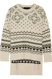 Fair Isle oversized merino wool-blend sweater