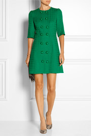 Dolce & Gabbana Wool-blend tweed mini dress