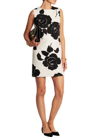 Dolce & Gabbana Floral-print cotton-blend jacquard mini dress