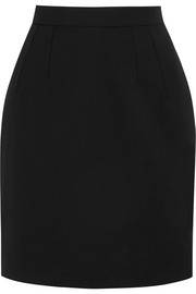Stretch-wool mini skirt