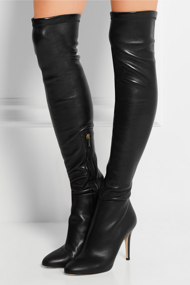 The Toni Stretch Leather Knee Boots Over nOkX8P0w