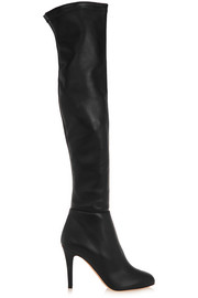 Toni stretch-leather over-the-knee boots