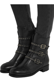 Dover textured-leather boots