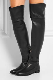 Mitty textured-leather over-the-knee boots