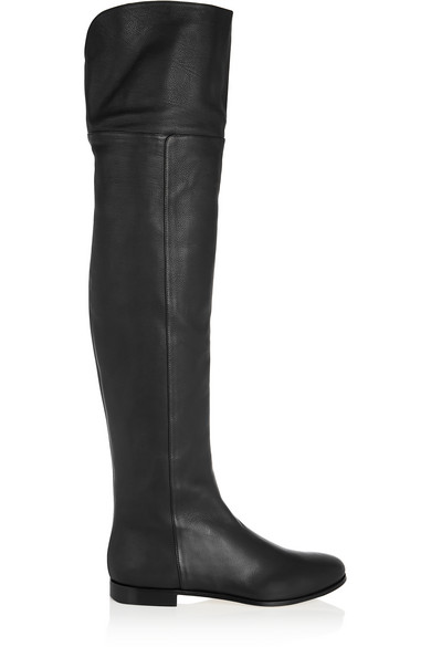 c39d3be162a Jimmy Choo. Mitty textured-leather over-the-knee boots