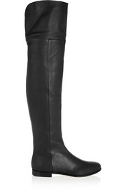 Jimmy Choo Mitty textured-leather over-the-knee boots
