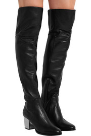 Mercer textured-leather over-the-knee boots