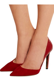 Darylin patent-leather and suede pumps