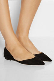 Darylin suede point-toe flats