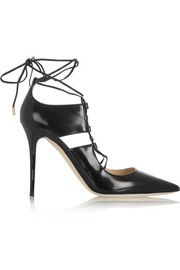Jimmy Choo Hoops patent-leather pumps