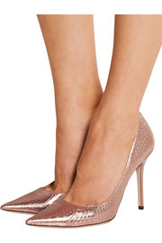 Abel metallic elaphe pumps