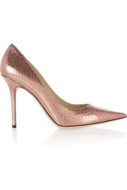 Jimmy Choo Abel metallic elaphe pumps