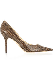 Agnes glossed-elaphe pumps