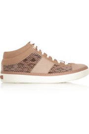 Elaphe, calf hair and suede sneakers