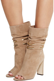 Mysen chain-trimmed suede boots