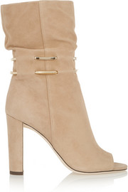 Jimmy Choo Mysen chain-trimmed suede boots