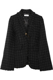 Cape-effect tweed blazer