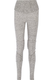 Moto-style wool-blend leggings