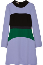 Color-block cady dress