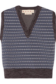 Marni Cropped wool-blend sweater