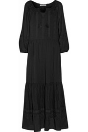 Vanessa Bruno Daloa embroidered cotton-voile maxi dress