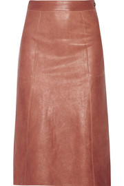 Doma washed-leather skirt