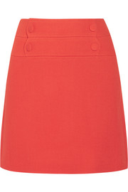 Lyoka wool-blend crepe mini skirt