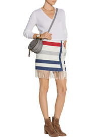 Titane striped wool-blend mini skirt