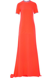 Garnet stretch-crepe gown