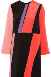 Roksanda Color-block silk crepe de chine mini dress