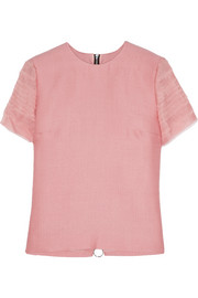 Roksanda Amity silk and wool-blend top