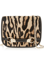 Jimmy Choo Zadie mini calf hair and patent-leather shoulder bag