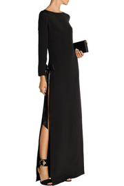 Antidote satin-trimmed silk-cady maxi dress