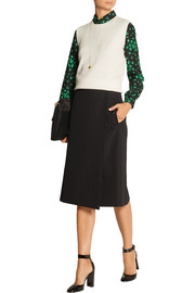 Abondance wool wrap skirt