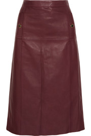Absolu leather skirt