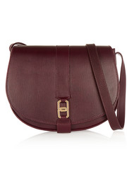 Angèle textured-leather shoulder bag