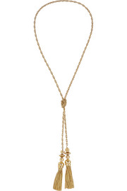 Anastasi gold-tone tassel necklace