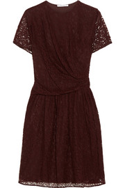 Gathered lace dress