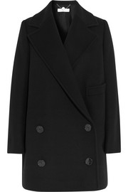 Edith double-breasted wool-blend coat