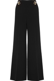 Stella McCartney Wool-crepe wide-leg pants