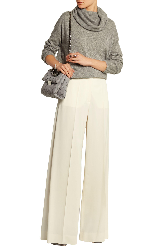 Stella McCartney Wool-twill wide-leg pants