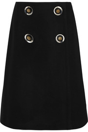 Stella McCartney Wool-blend wrap skirt