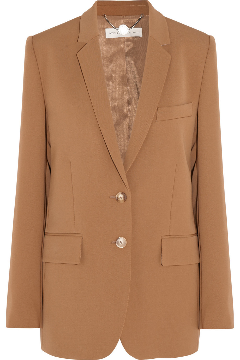 Stella Mccartney Wool-Twill Blazer, Tan, Women's, Size: 36