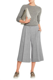 Stretch-wool culottes