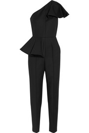 Ruffled stretch-woven jumpsuit
